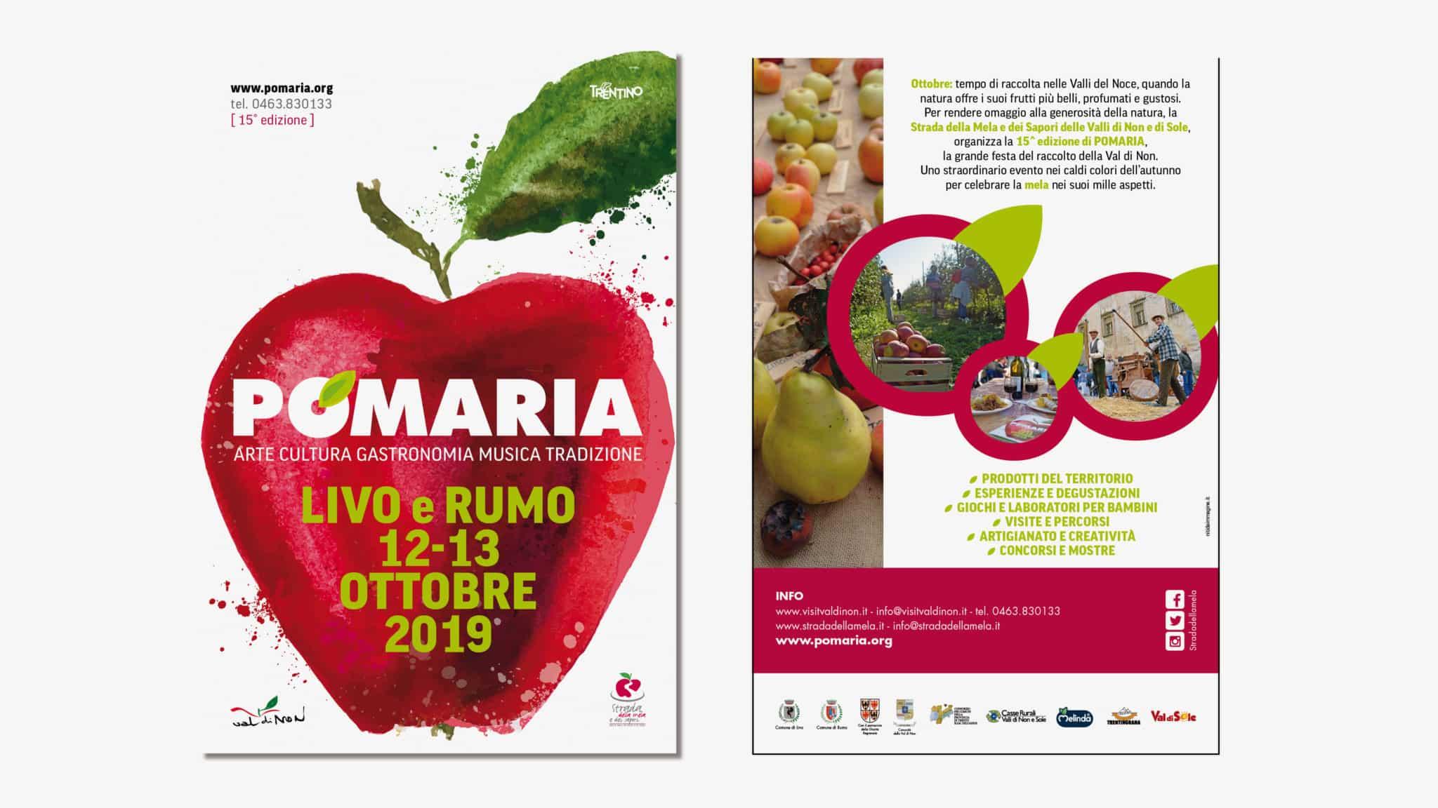 Pomaria - Volantino - Grafica