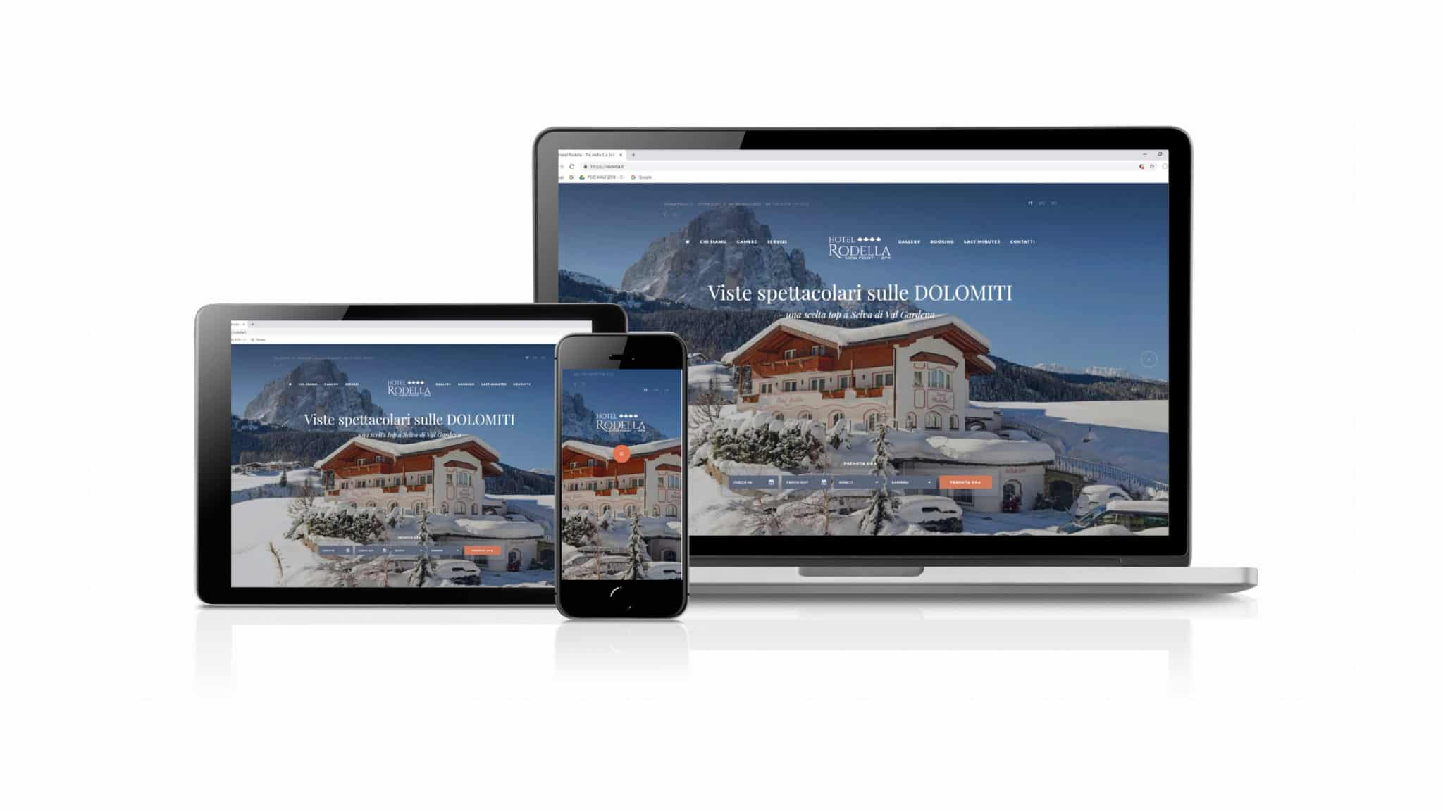 Hotel Rodella - website