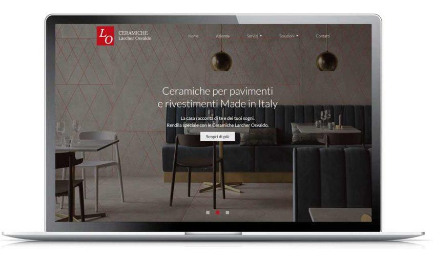 Sito web professionale - Ceramiche Larcher