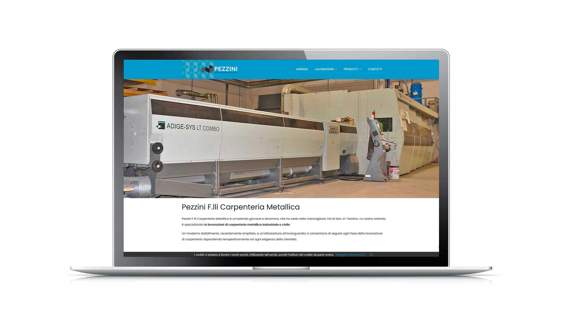 Sito web professionale - Pezzini F.lli Carpenteria Meccanica