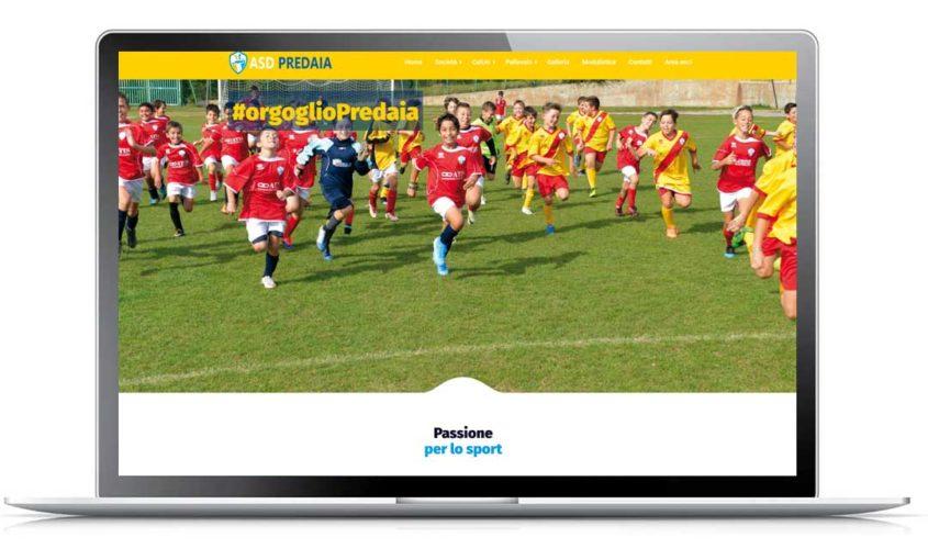 sito web professionale associazione sportiva predaia